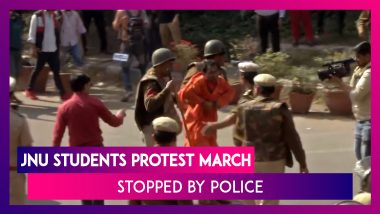 JNU Students Protest March To Parliament Stopped By Police